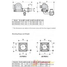 Горелка для котла газовая Lamborghini 310 PM/M-Е.F8 DN65