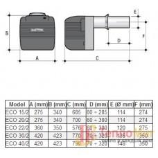 Горелка для котла дизельная Lamborghini ECO 20/2